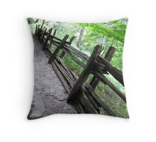 Rickety Fence Throw Pillow