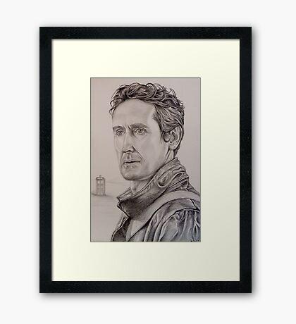 Paul McGann the eighth Doctor Framed Print