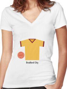 Bradford City Women's Fitted V-Neck T-Shirt