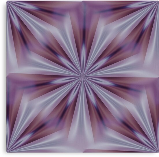 Aubergine Eggplant Kaleidoscope Abstract by taiche