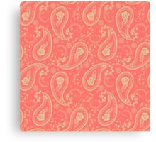 Pink paisley Canvas Print