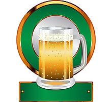 Glass of beer Photographic Print