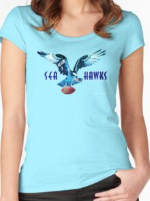 Seattle Seahawks v. Patriots Women's Fitted Scoop T-Shirt