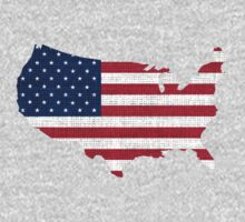 American Flag and Map by Nhan Ngo