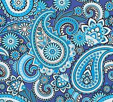 Blue paisley by Vitalia