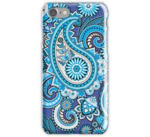 Blue paisley iPhone Case/Skin