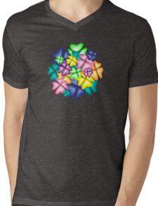 vivid flowers Mens V-Neck T-Shirt