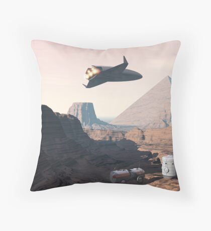 The Red Pyramid Throw Pillow