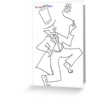 birthday tophat Greeting Card