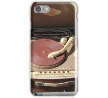 Retro portable turntable iPhone Case/Skin