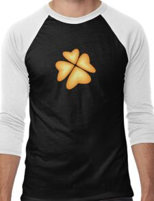 orange heart flower Men's Baseball ¾ T-Shirt