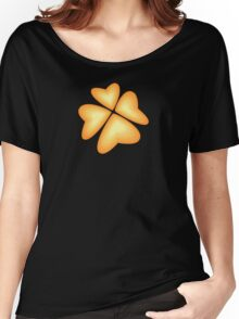 orange heart flower Women's Relaxed Fit T-Shirt