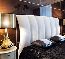 bedroom bed and table lamps Interior by mrivserg