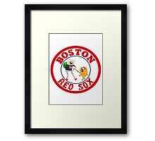 Boston red sox Adventure time Framed Print