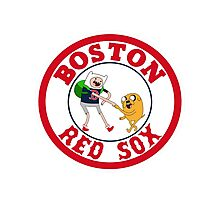 Boston red sox Adventure time Photographic Print