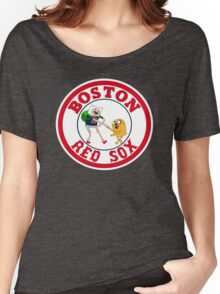 Boston red sox Adventure time Women's Relaxed Fit T-Shirt