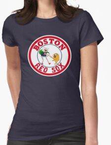 Boston red sox Adventure time Womens Fitted T-Shirt