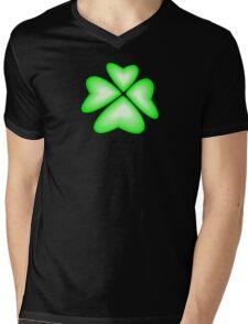 green heart flower Mens V-Neck T-Shirt