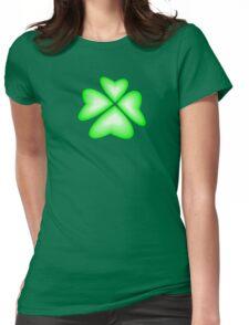 green heart flower Womens Fitted T-Shirt
