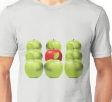 Red apple among green apples Unisex T-Shirt