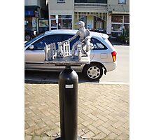 """the Postie"" -  Deloraine oxygen cylinder artwork Photographic Print"