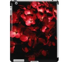 Red Flowers Bouquet in Black Background Photography iPad Case/Skin