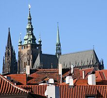 St. Vitus Cathedral at Prague Castle. by DRWilliams