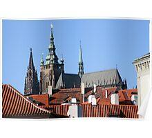 St. Vitus Cathedral at Prague Castle. Poster