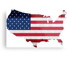 American Flag Map Metal Print