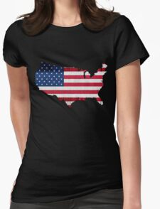 American Flag Map T-Shirt