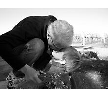 Kisses For Grandma Photographic Print