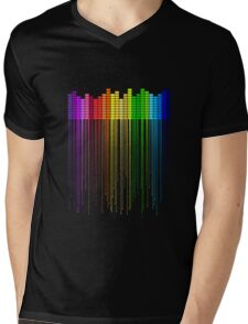 Colorful Music Equalizer Mens V-Neck T-Shirt