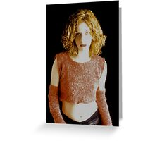 pretty vacant arm warmers Greeting Card
