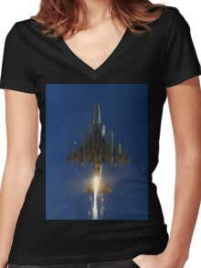 Flares! Women's Fitted V-Neck T-Shirt