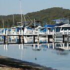 Swansea Moorings and Wharf - Lake Macquarie NSW by Phil Woodman