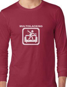 Multislacking - White Long Sleeve T-Shirt