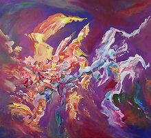 """""""Turbulence"""" original abstract artwork by Laura Tozer by Laura Tozer"""
