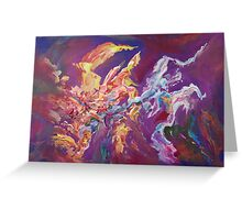 """Turbulence"" original abstract artwork by Laura Tozer Greeting Card"