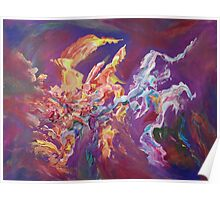 """""""Turbulence"""" original abstract artwork by Laura Tozer Poster"""