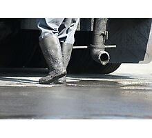 Hot Shoes!  Asphalt worker, La Mirada, CA USA Photographic Print
