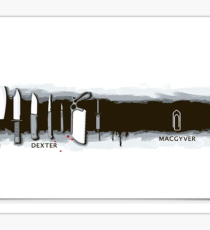Dexter x MacGyver Sticker