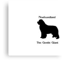 Newfoundland The Gentle Giant Canvas Print