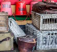 Fire buckets and hampers by Judi Lion