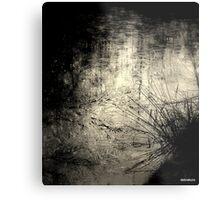 black and white ice Metal Print