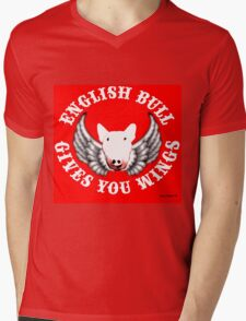 English Bull - Gives you Wings! Mens V-Neck T-Shirt