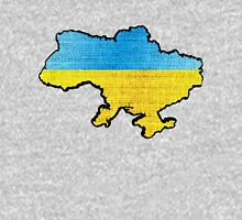 Ukraine Flag Map Unisex T-Shirt