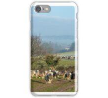 Herdwick sheep grazing in winter iPhone Case/Skin