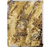 Manhattan map antique iPad Case/Skin