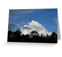 puffy cotten cloud Greeting Card