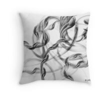 silver smoke Throw Pillow